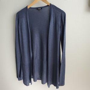Premise blue bell sleeve open cardigan S